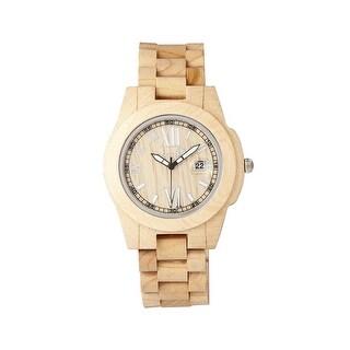 Earth Wood Heartwood Unisex Quartz Watch, Wood Band, Luminous Hands