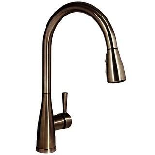 Mirabelle MIRXCCA100 Calverton Pullout Spray Kitchen Faucet with High Arch Goose