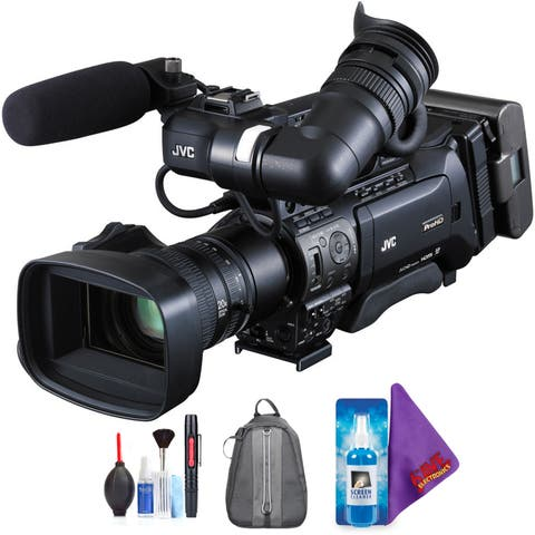 JVC GY-HM850U ProHD Compact Shoulder Mount Camera with Fujinon 20x Lens + Pro Accessories Bundle