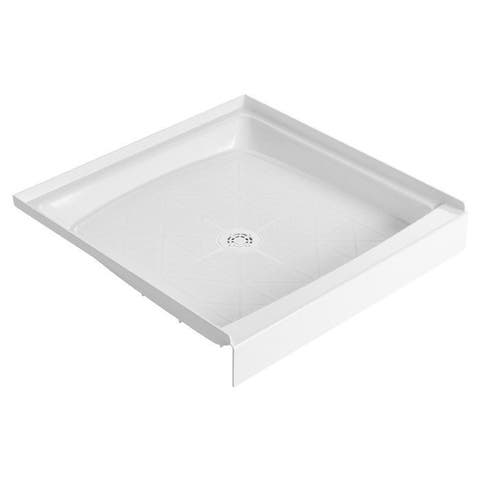 """American Standard 34WL Fiat 34"""" x 34"""" Shower Base with Single Threshold and Center Drain - White"""