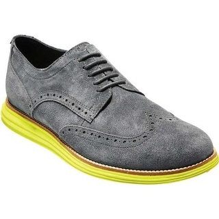 65175525f5a2d6 Shop Cole Haan Men s W.Original Grand Wingtip Oxford Magnet Suede - On Sale  - Free Shipping Today - Overstock - 23557804