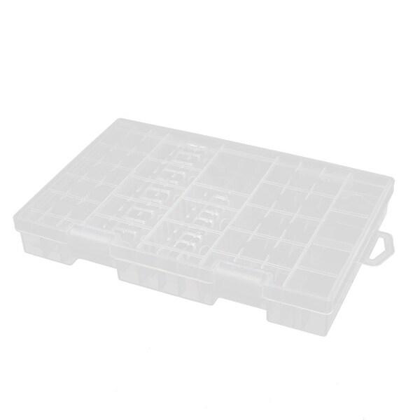 Transparent Storage Case for AA AAA 9V Hard Plastic Battery Holder Organizer