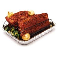 Grill Pro 41615 Non-Stick Rib Rack With Foil Pans