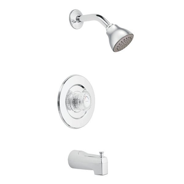 Moen T471 Chateau Pressure Balanced Tub and Shower Trim with 2.5 GPM Shower Head, Tub Spout, and Volume Control - Chrome
