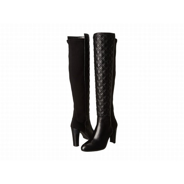 Stuart Weitzman NEW Black Shoes Size 7.5M Knee-High Leather Boots