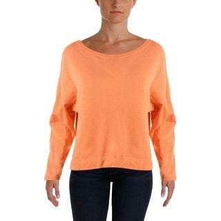 LRL Lauren Jeans Co. Womens Pullover Top Long Sleeves French Terry