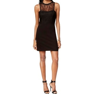 Sanctuary Womens Cassidy Cocktail Dress Lace Trim Fitted
