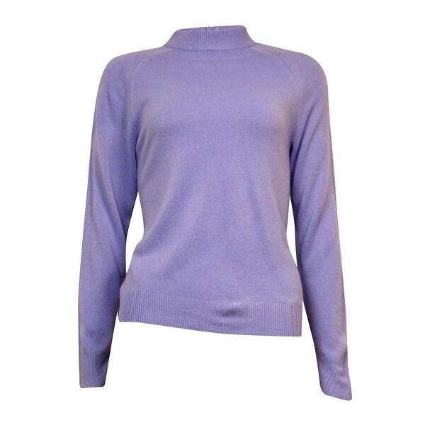 Karen Scott Women's Semi Zipped Mock Turtleneck Sweater - Free ...