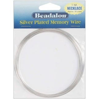 Memory Wire Necklace .62mm .5oz-Silver-Plated - 18 Coils - Silver