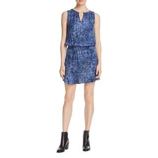 Soft Joie Womens Zealana Casual Dress Smocked Printed