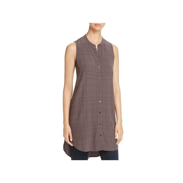 fbc2a98175e Shop Eileen Fisher Womens Tunic Top Button-Down High-Low - Free ...