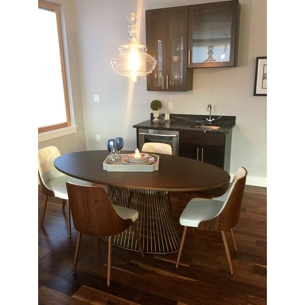 Ink Ivy Mercer Bronze Oval Dining Table Free Shipping Today 12298509