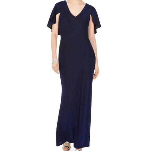 Jessica Howard Women's Dress V-Neck Cape Sleeve Gown
