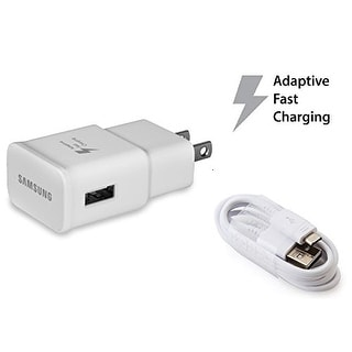 OEM Original Authentic Samsung Fast Charging Adapter Travel Charger - White