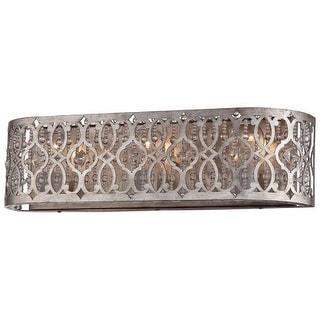 Arabesque Silver Leaf Pata 2 Light Vanity Fixture Free