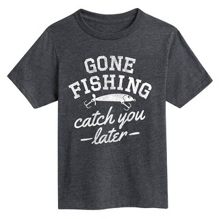 Gone Fishing Catch You Later - Youth Short Sleeve Tee