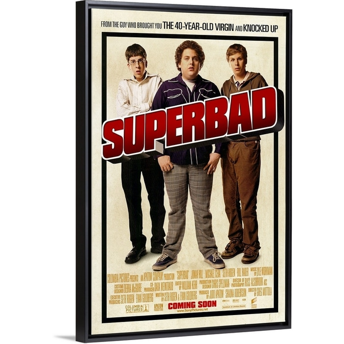 Shop Black Friday Deals On Superbad 2007 Black Float Frame Canvas Art Overstock 25505026