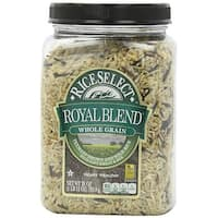 Rice Select Royal Blend Rice - Whole Grain and Brown - Case of 4 - 28 oz.