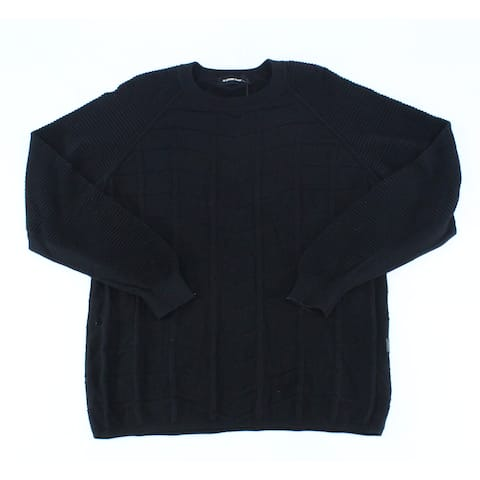 G-Star Raw Men's Sweater Black Size 2XL Crewneck Ribbed Pullover