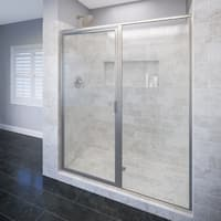 "Basco A531-59XP Deluxe 68-5/8"" High x 59"" Wide Pivot Framed Shower Door with AquaGlideXP Clear Glass"