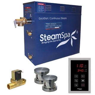 SteamSpa OAT1200-A  Oasis 12 KW QuickStart Acu-Steam Bath Generator Package with Built-in Auto Drain and Touch Controller