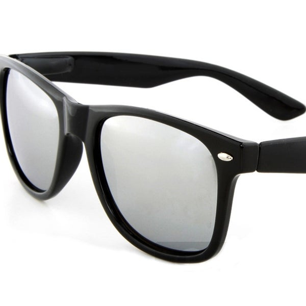 9f7ab25b06f97 Shop Pack of 2 Retro Black Sunglasses Mirror Lens - Free Shipping On Orders  Over  45 - Overstock - 23042584