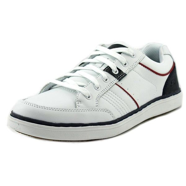 Skechers Lanson - Rometo Men Round Toe Leather White Sneakers
