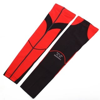 XINTOWN Authorized Sports Elbow Brace Sweat-absorption Arm Sleeves Red L Pair