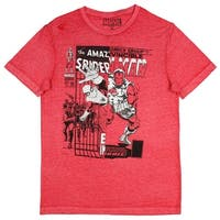 Marvel Men's Vintage Iron Man And Spider-Man Double Feature T-Shirt