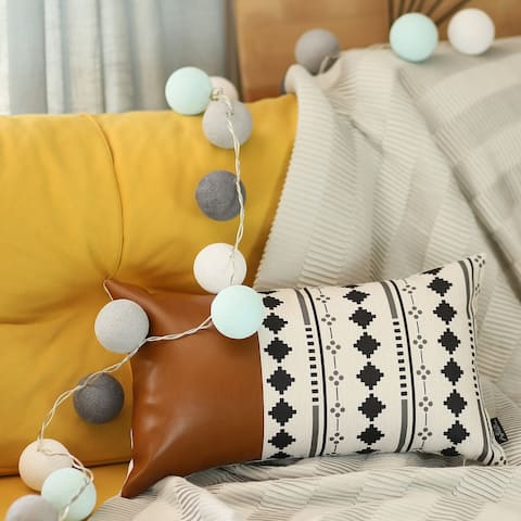 The Curated Nomad Baywood 12x20 Decorative Faux Leather Pillow Cover