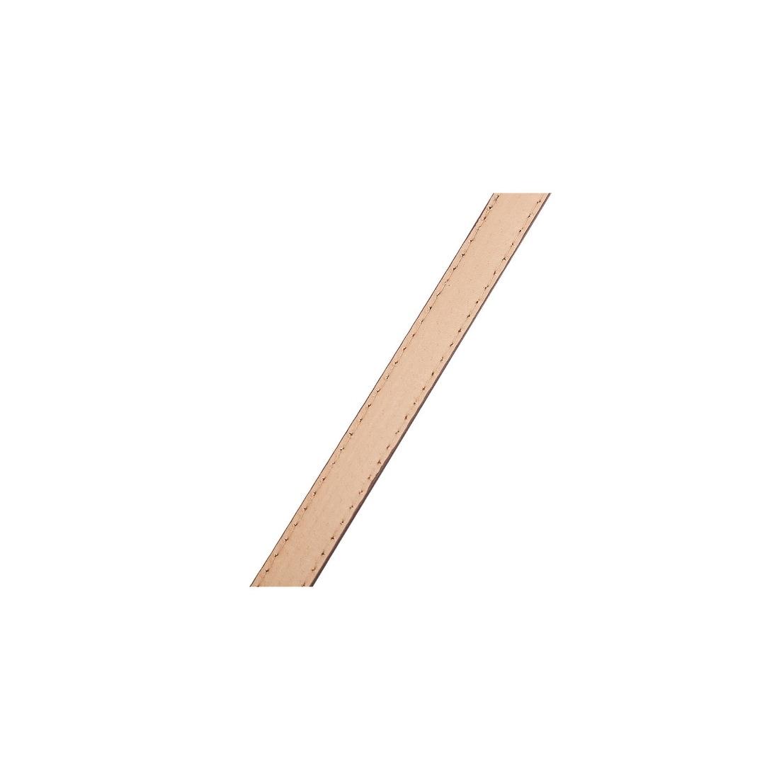 uxcell Womens Alligator Grain Embossed Single Oval Pin Buckle Slender Leather Belt Pink