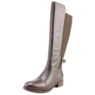 Softwalk Mission Women N/S Round Toe Leather Knee High Boot