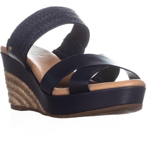 UGG Adriana Wedge Mule Sandals, Marino - 9 US / 40 EU