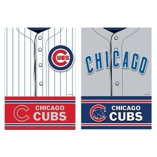 MLB DS Suede Foil Regular Jersey Banner Flag MLB Team: Chicago Cubs - multi