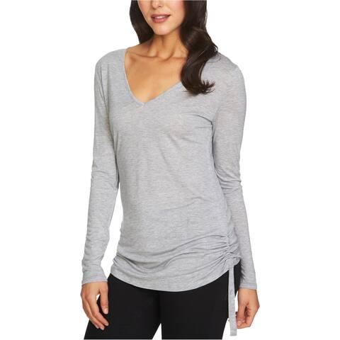 1.State Womens V-Neck Ruched-Side Basic T-Shirt