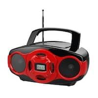 Naxa MP3/CD Mini Boombox and USB Player- Red