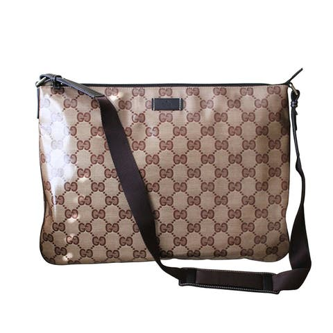 29f3559c5695 Gucci Unisex Crystal GG Fabric Laptop Sling Messenger Bag 278301 - One size