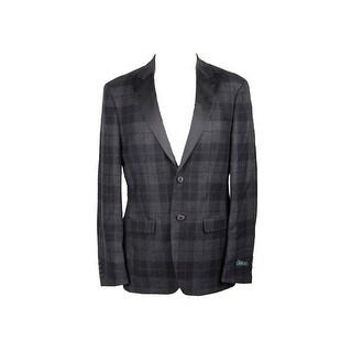 Lauren Ralph Lauren Grey Classic-Fit Tartan Sport Coat 38R