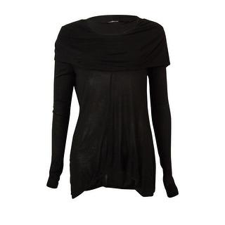 Kensie Women's Long-sleeve Cowl-neck Blouse