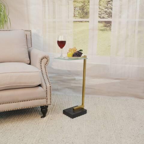 Baylor Drink Table, Gold/Black