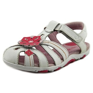 Stride Rite SRT PS Hazel Toddler Open Toe Leather White Sandals