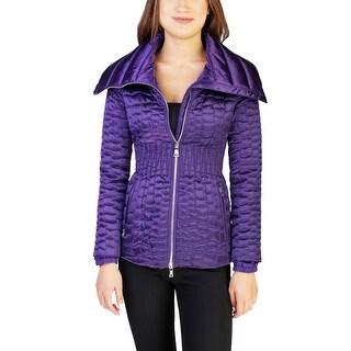 Prada Women's Nylon Puffer Down Jacket Purple - 4