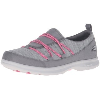 Skechers Performance Women's Go Step Sway Walking Shoe, Gray/Pink