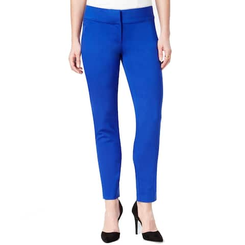 XOXO Dress Pants Blue Size 00X29 Junior Ankle Length Solid Stretch