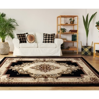 Link to Porch & Den Curry Hand-Carved Area Rug Similar Items in Classic Rugs