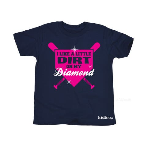 I Like A Little Dirt On My Diamond Bats Softball Baseball Sports Youth T-Shirt