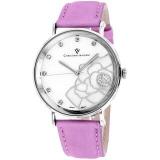 Christian Van Sant Women's Fleur CV2213 Mother of Pearl Dial watch