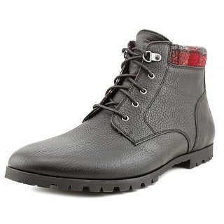Woolrich Beebe Men Round Toe Leather Black Boot