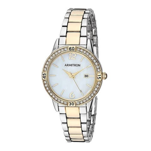 Armitron Women's Swarovski Crystal Dial Two-Tone Bracelet Watch