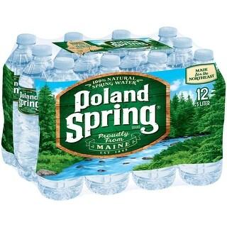 Poland Spring Natural Spring Water - (Case of 24 - 0.5 ltr)